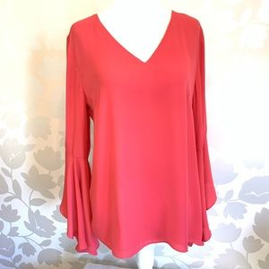 WHBM | Bell Sleeve Slouch Back Blouse